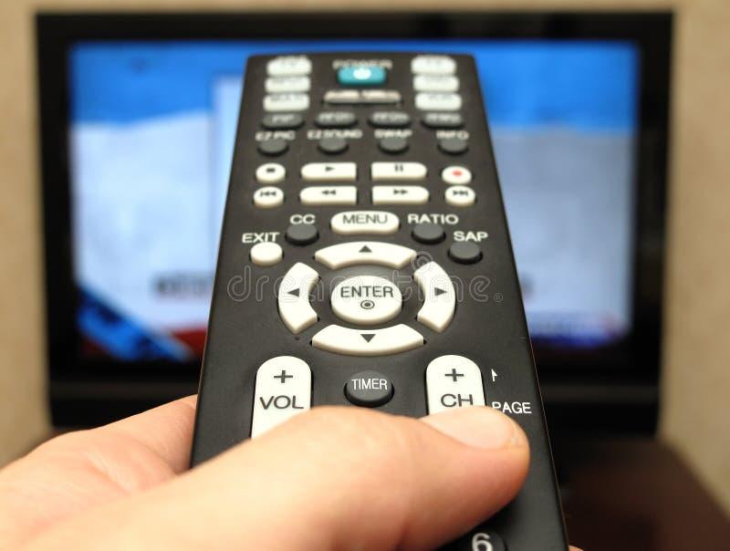 наблюдать tv стоковое фото
