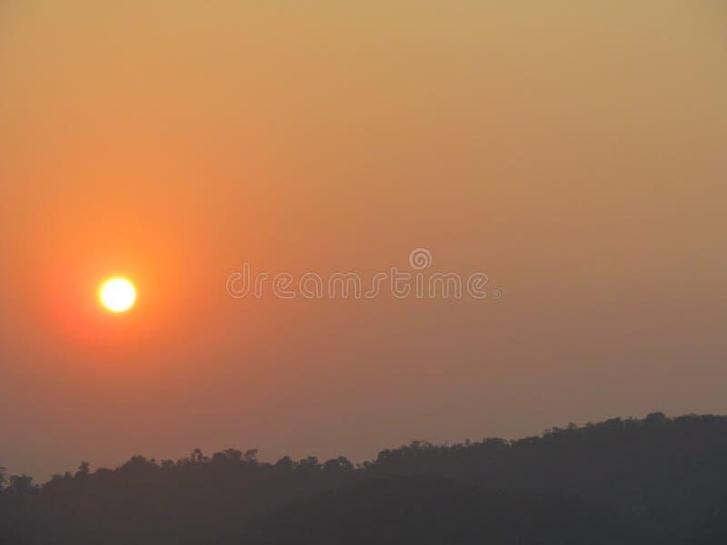 Наборы Солнца стоковое фото rf