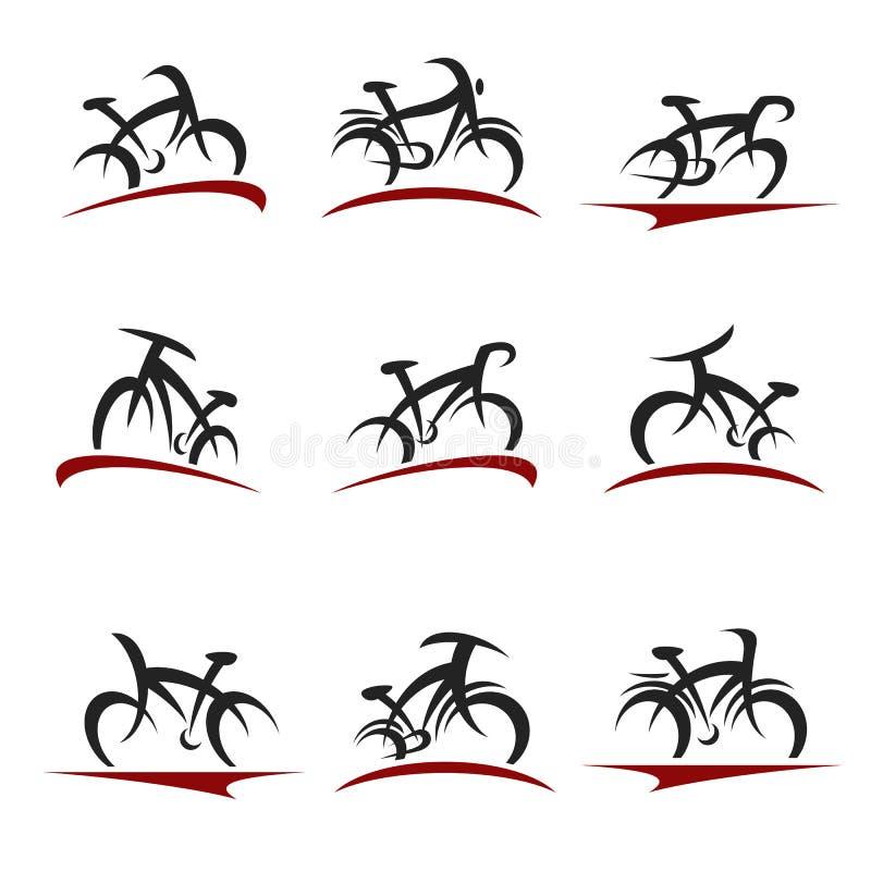 Набор велосипедов Велосипед значка коллекции Вектор иллюстрация вектора