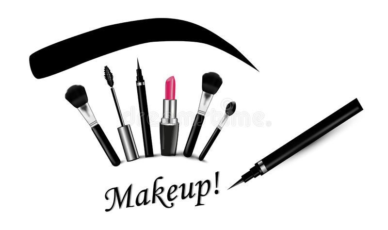 Cosmetics on a white background royalty free stock photography