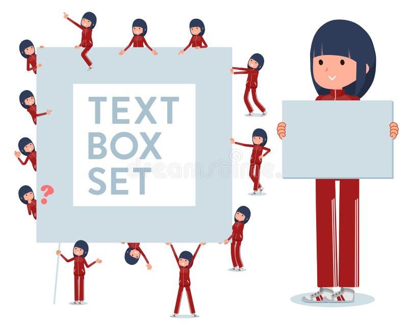 Набор женщин в sportswear с доской для сообщений В виду того что каждое разделено, вы можете двинуть его свободно  иллюстрация штока