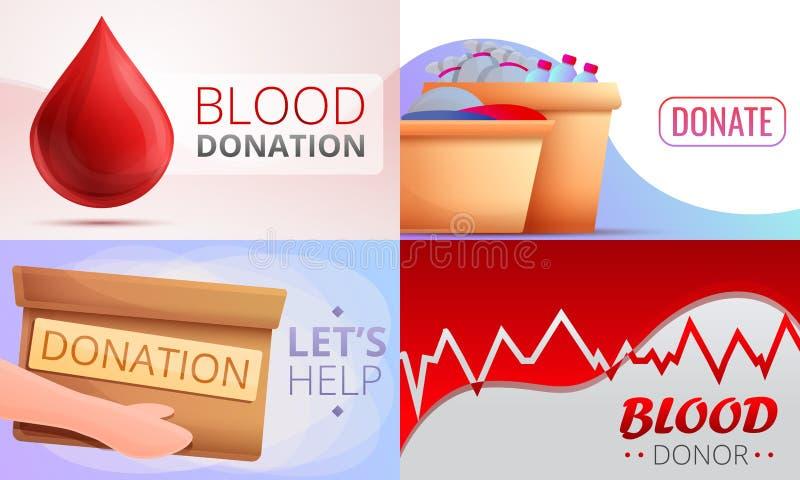 Набор знамени пожертвований, стиль мультфильма бесплатная иллюстрация