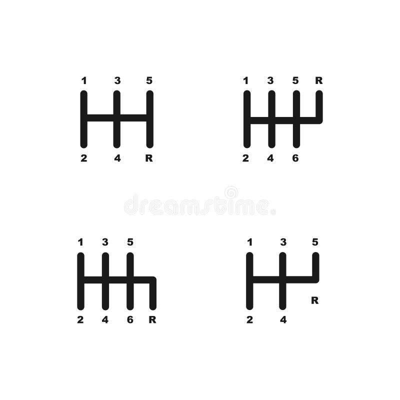 Набор значка сдвигателя шестерни бесплатная иллюстрация
