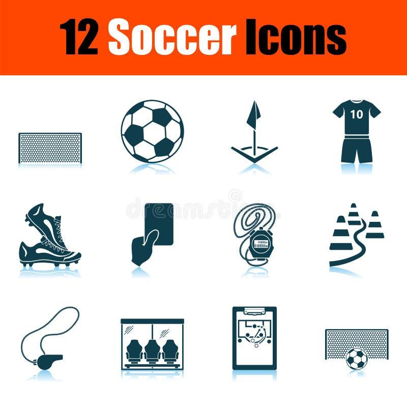 Набор значка футбола бесплатная иллюстрация