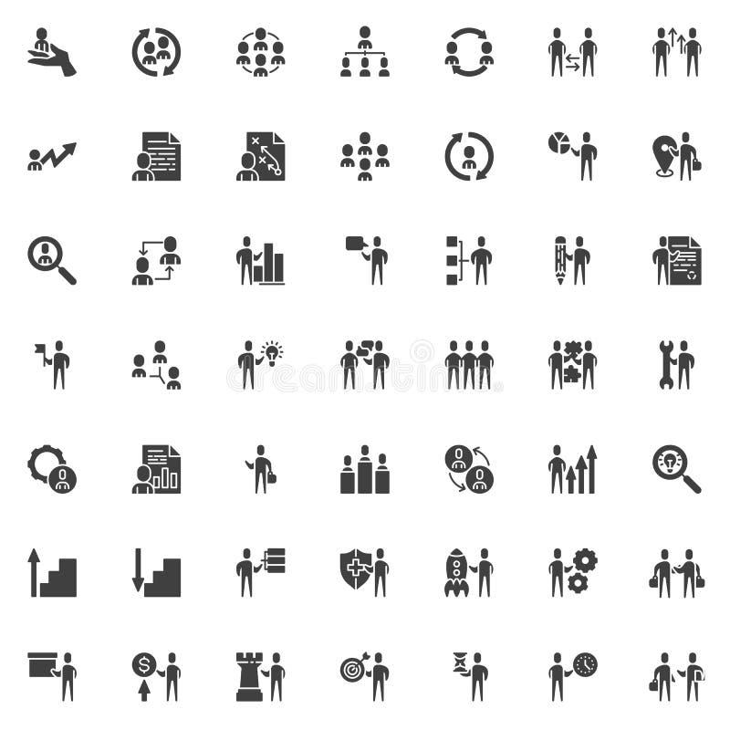Набор значков вектора команды дела иллюстрация штока