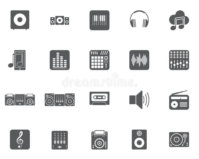 Набор значков вектора музыки Dj бесплатная иллюстрация