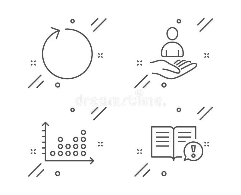 Набор значков графика рекрутства, петли и точки Факты подписывают Hr, освежает, диаграмма представления Важная информация r иллюстрация вектора