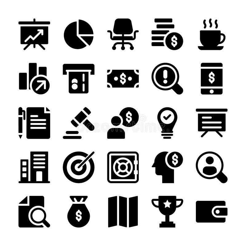 Набор значков дела и финансов бесплатная иллюстрация