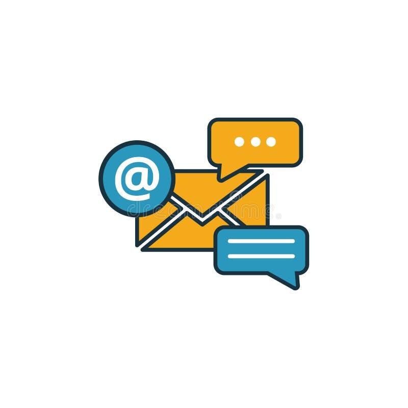 Набор значков маркетинга электронной почты Четыре элемента в различных стилях из коллекции значков онлайн-маркетинга Значки марке иллюстрация штока