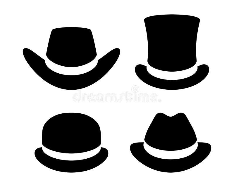 Набор значков шляп графический иллюстрация штока