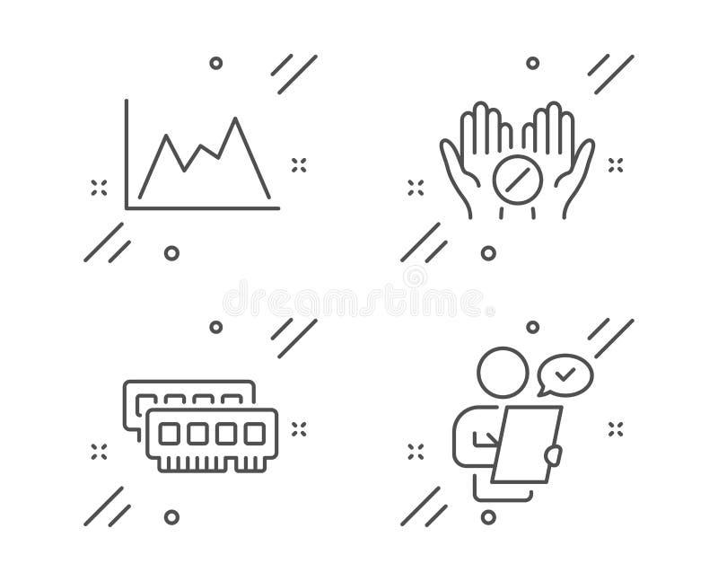 Набор значков Ram, Medical бульвара и диаграммы Знак опроса клиентов Вектор иллюстрация вектора
