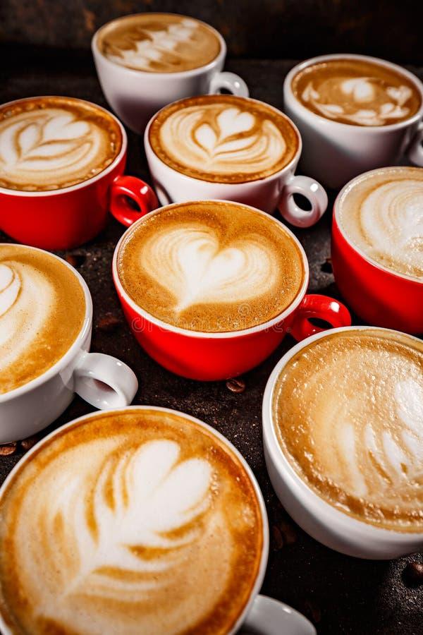 Набор искусства latte кофе стоковая фотография rf