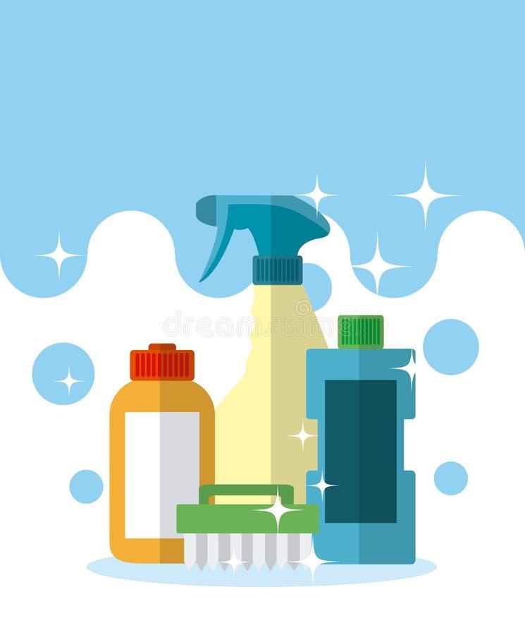 Набор и продукты чистки бесплатная иллюстрация