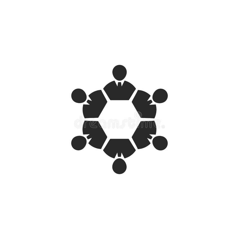 набор команд и руководство бизнес-шаблон логотипа шаблон векторный значок иллюстрация иллюстрация штока