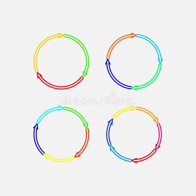 Набор круговых меток иллюстрация штока