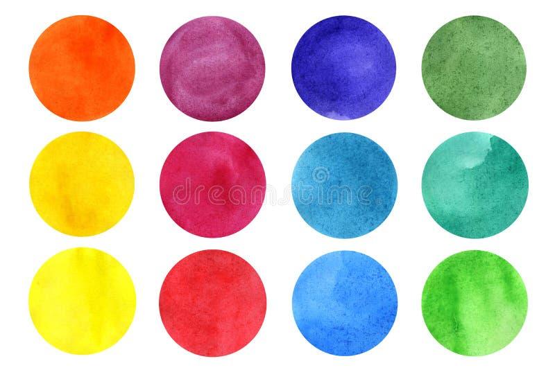 Набор кругов акварели бесплатная иллюстрация