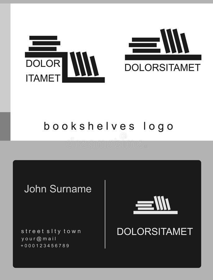 Набор логотипа книжных полков иллюстрация штока