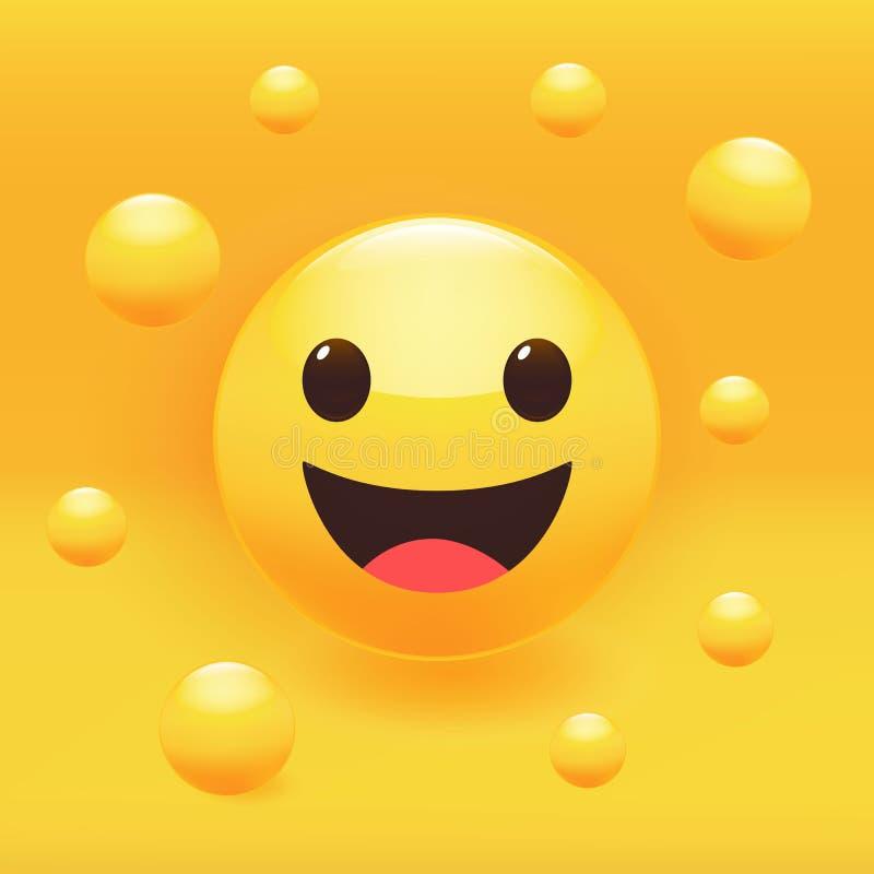 Набор наклеек с улыбкой Иллюстрация вектора Premium стоковая фотография rf