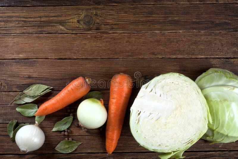 Набор овощей на фоне деревянной горизонтально στοκ φωτογραφία με δικαίωμα ελεύθερης χρήσης