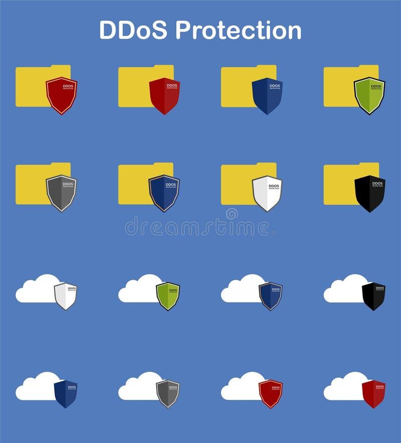 Набор предохранения от DDoS 16 бесплатная иллюстрация