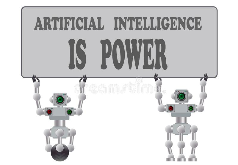 Набор различных роботов гуманоида r бесплатная иллюстрация