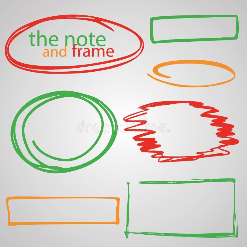Набор рамок и пузырей для нарисованных вручную цитат для устанавливать ваш текст бесплатная иллюстрация