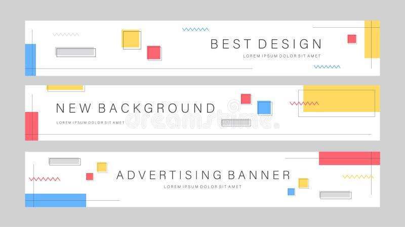Набор редактируемого шаблона баннера продажи Мобильный баннер для рекламы в социальных сетях и в Интернете Шаблон рекламодателя б бесплатная иллюстрация