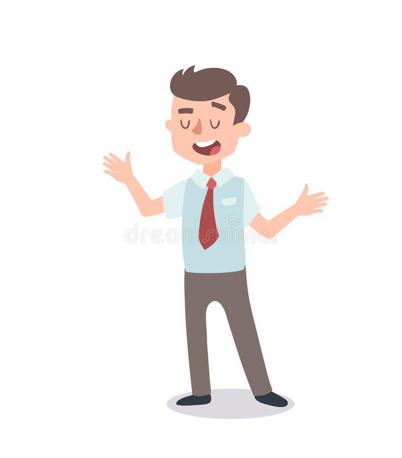 Набор символов бизнесмена Одушевленный характер Мужской конструктор персонажа Различные позиции человека Персонаж вектора установ бесплатная иллюстрация