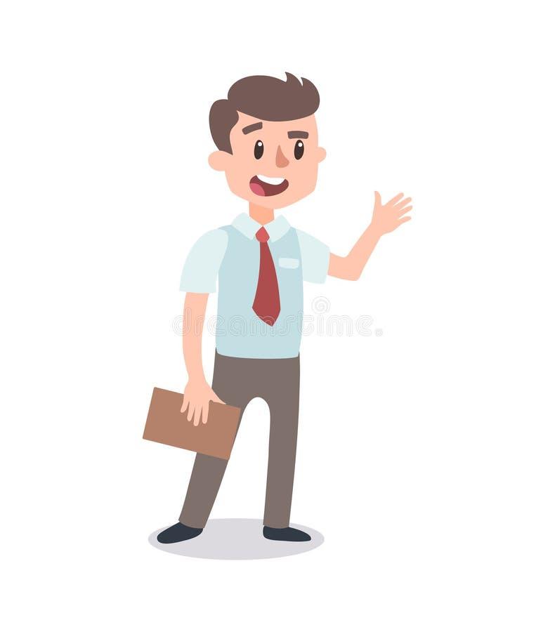 Набор символов бизнесмена Одушевленный характер Мужской конструктор персонажа Различные позиции человека Персонаж вектора установ иллюстрация штока