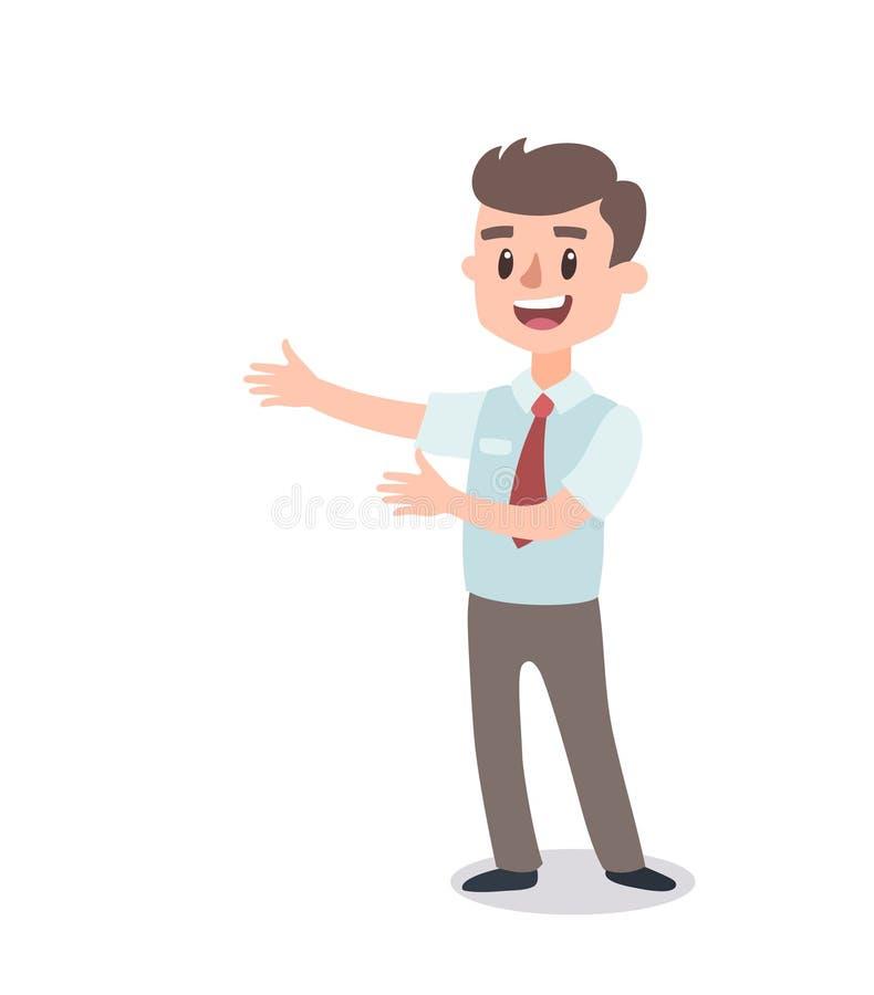 Набор символов бизнесмена Одушевленный характер Мужской конструктор персонажа Различные позиции человека Персонаж вектора установ иллюстрация вектора