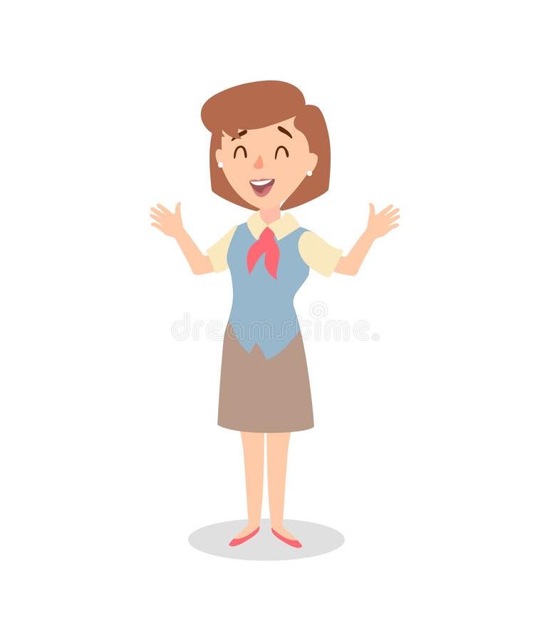 Набор символов коммерсантки Одушевленный характер Женский конструктор персонажа Различные позиции женщины вектор комплекта сердец иллюстрация штока