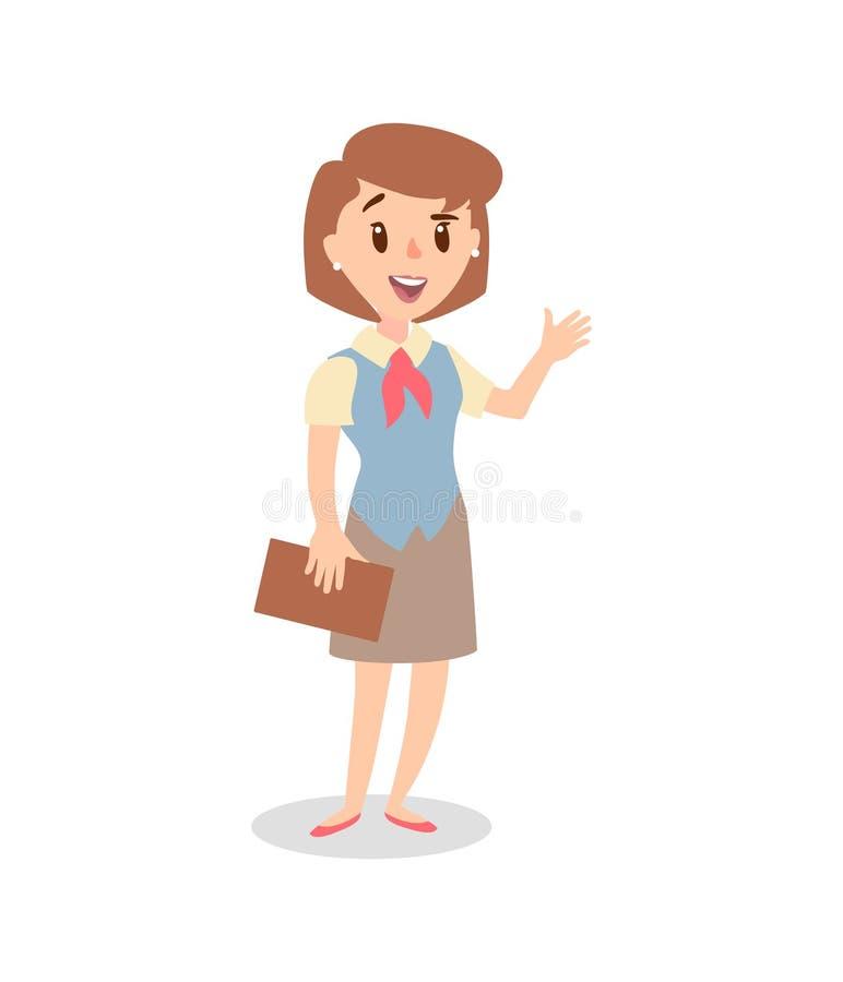 Набор символов коммерсантки Одушевленный характер Женский конструктор персонажа Различные позиции женщины вектор комплекта сердец иллюстрация вектора