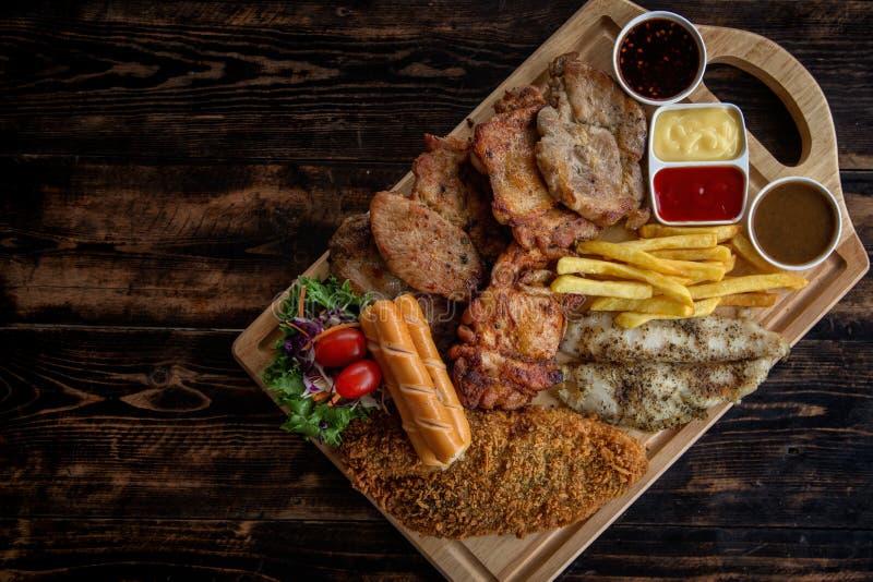 Набор стейка свинины стоковые изображения rf
