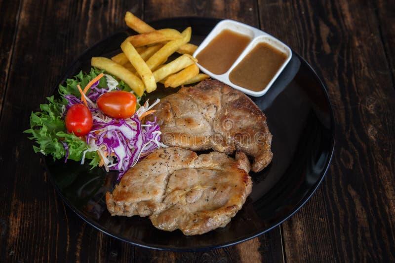 Набор стейка свинины стоковые фотографии rf