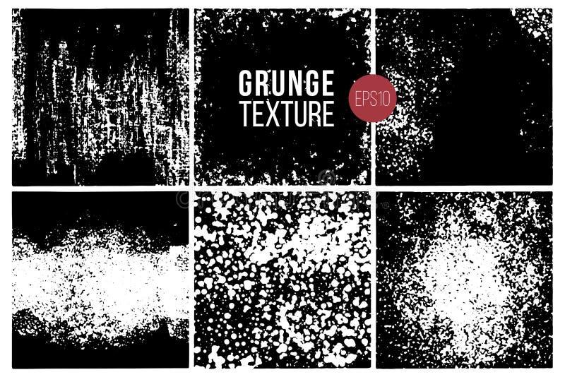 Набор текстур Grunge backhander Monochrome абстрактные поверхности заряда для дизайна бесплатная иллюстрация