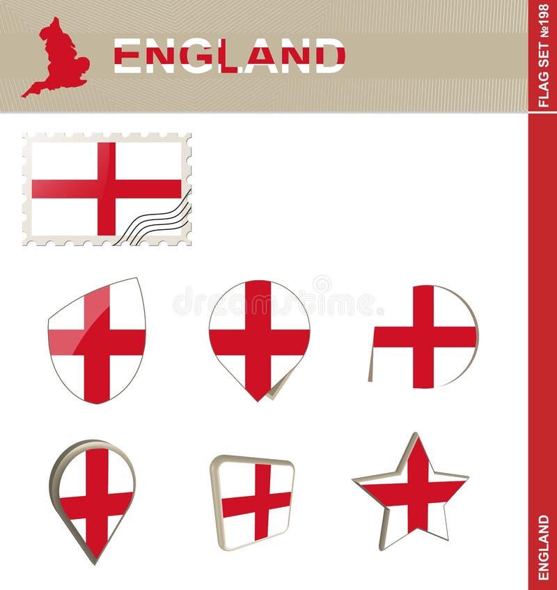 Набор флага Англии, набор #198 флага бесплатная иллюстрация