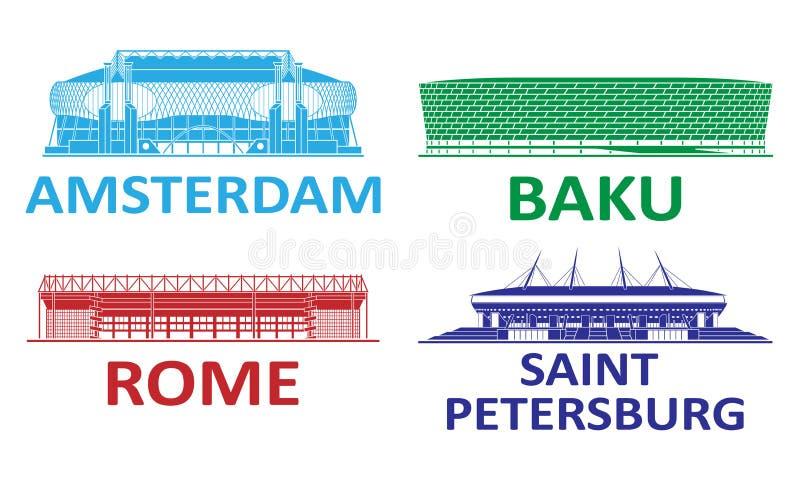 Набор футбольного стадиона 2020 стоковая фотография