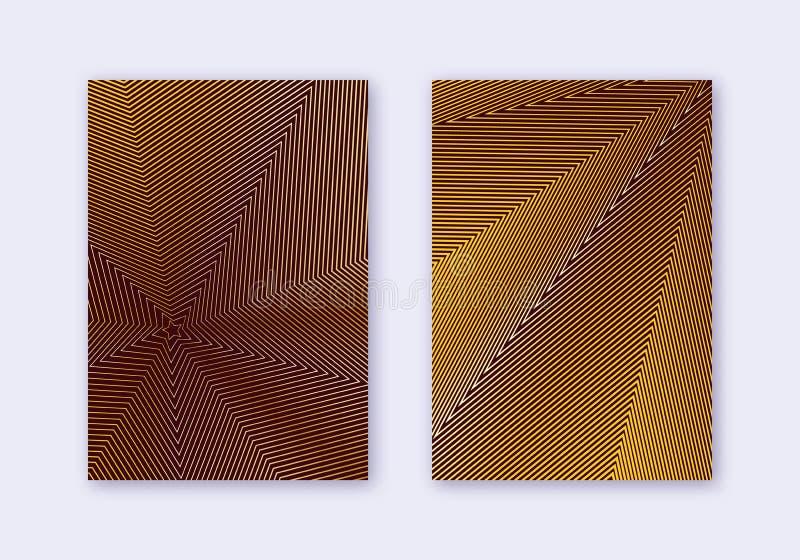 Набор шаблона дизайна крышки Линии современный b конспекта бесплатная иллюстрация
