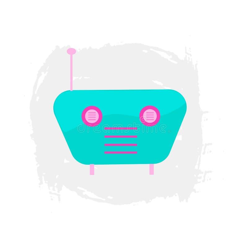Набор элементов радио мультфильма значка РАДИО красочный бесплатная иллюстрация