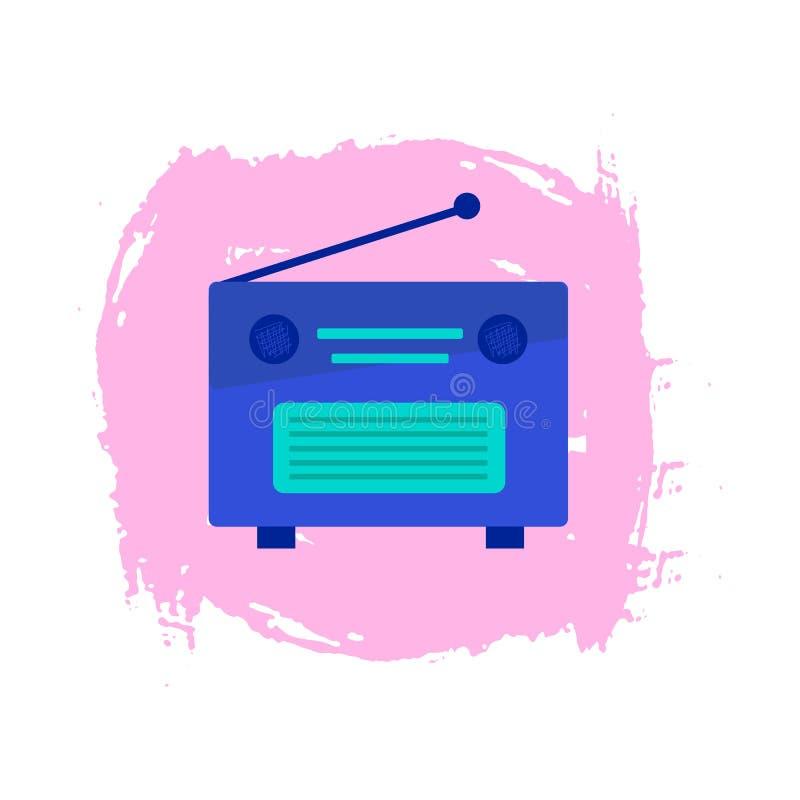 Набор элементов радио мультфильма значка РАДИО красочный иллюстрация штока