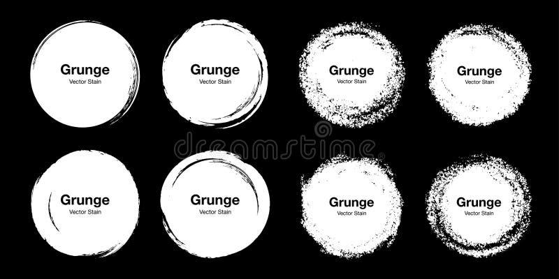 Набор эскиза щетки круга руки вычерченный красочный Doodles grunge вектора круговые для элемента дизайна метки примечания сообщен иллюстрация вектора