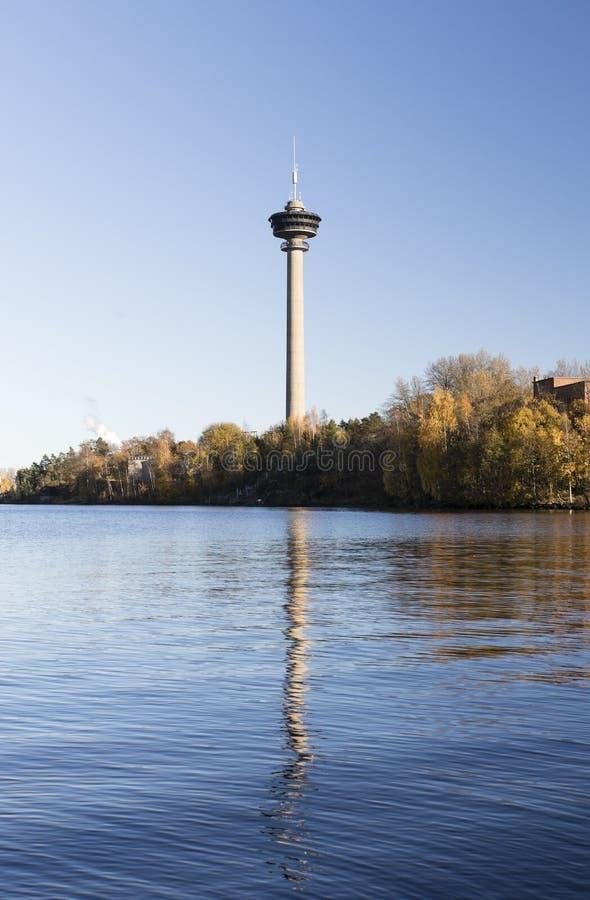 Наблюдательная вышка Nasinneula от Тампере, Финляндии стоковое изображение