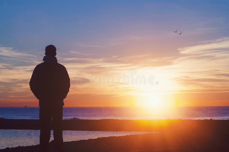 наблюдать восхода солнца стоковые фотографии rf