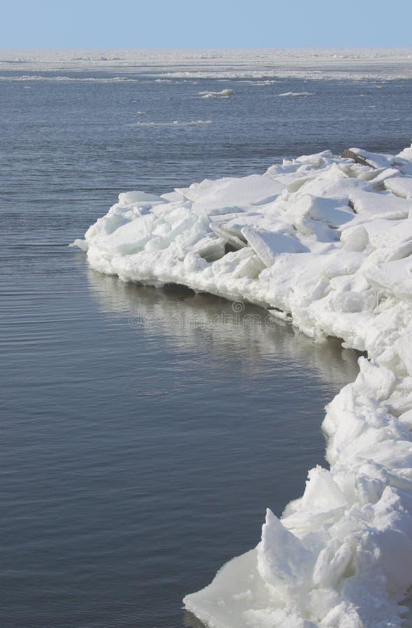 навалите снежок моря льда стоковое изображение