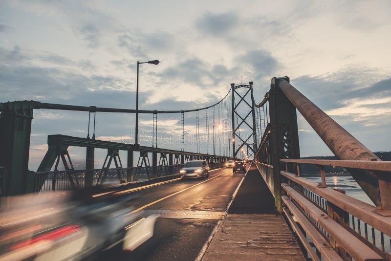 Наведите взгляд пересекая Реку Святого Лаврентия от ` Орлеана Ile d в Квебеке стоковые изображения rf