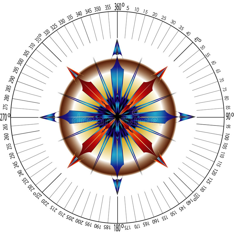 навигаторы компаса подняли иллюстрация вектора