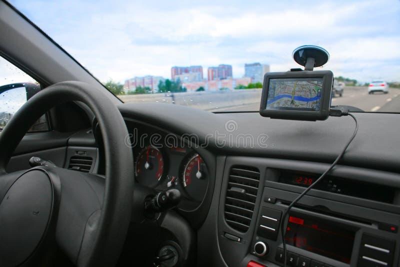 навигатор автомобиля стоковые фотографии rf