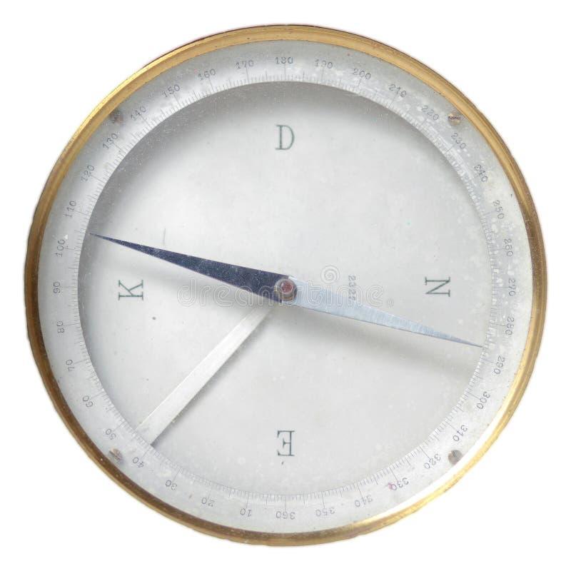 навигация изолированная компасом использовала сбор винограда стоковая фотография rf