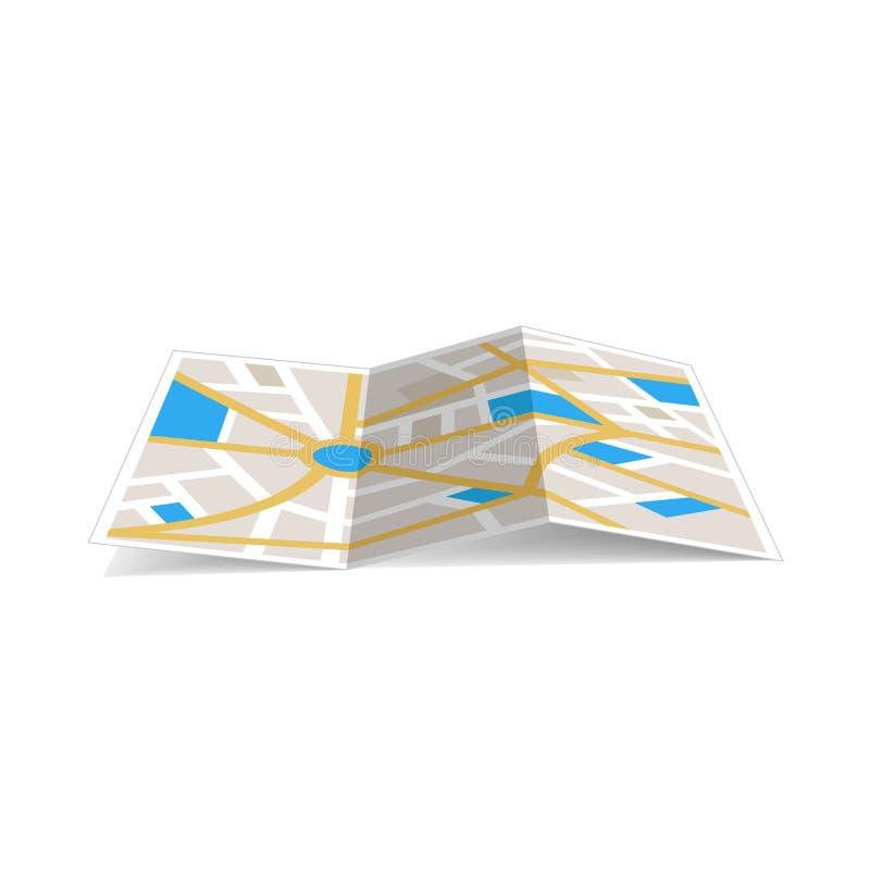 Навигация карт с красными и голубыми отметками пункта цвета и предпосылкой дизайна компаса, иллюстрацией вектора бесплатная иллюстрация