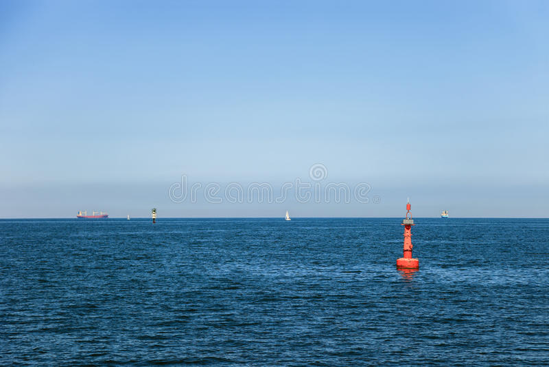 Навигация на море стоковое изображение